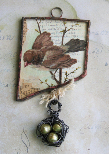 Nesting collage charm