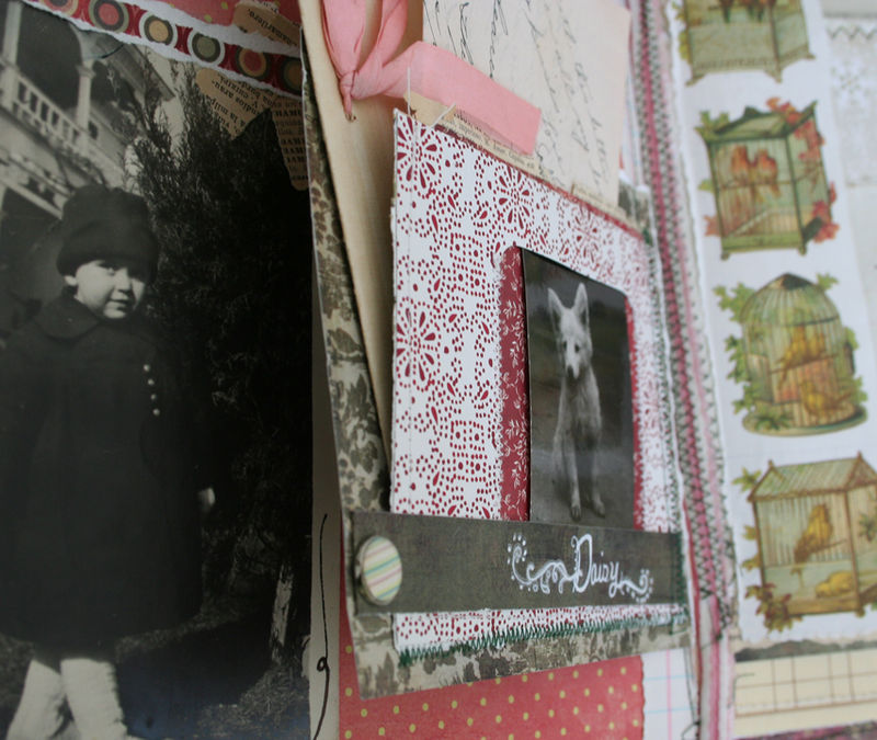 Christmas chaos journal page 2 detail