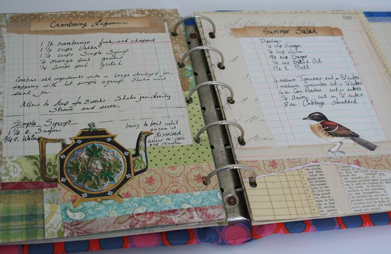 Altered cookbook journal