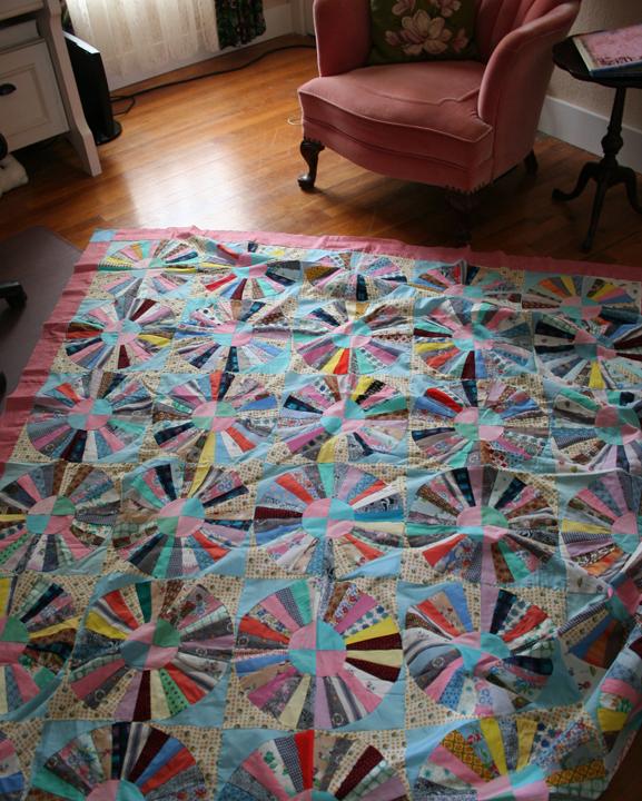 Really crazy crazy scrap quilt (2)