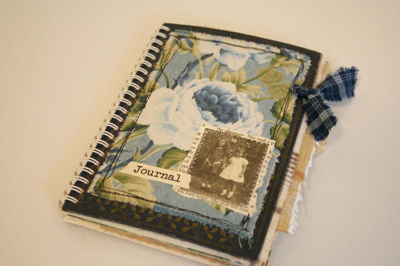 Blue english rose journal (1)