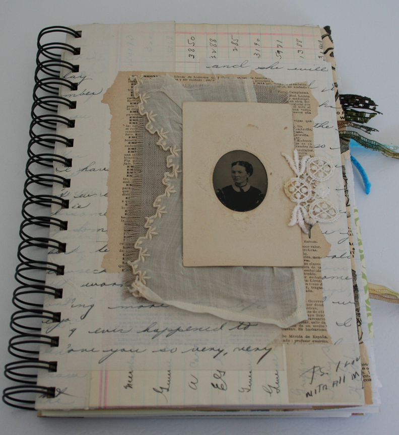 Tin type and vintage lace journal (1)