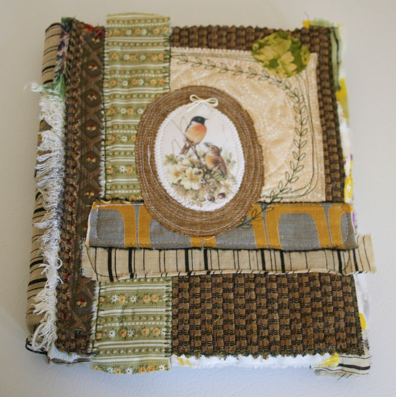 Birds crazy quilt journal