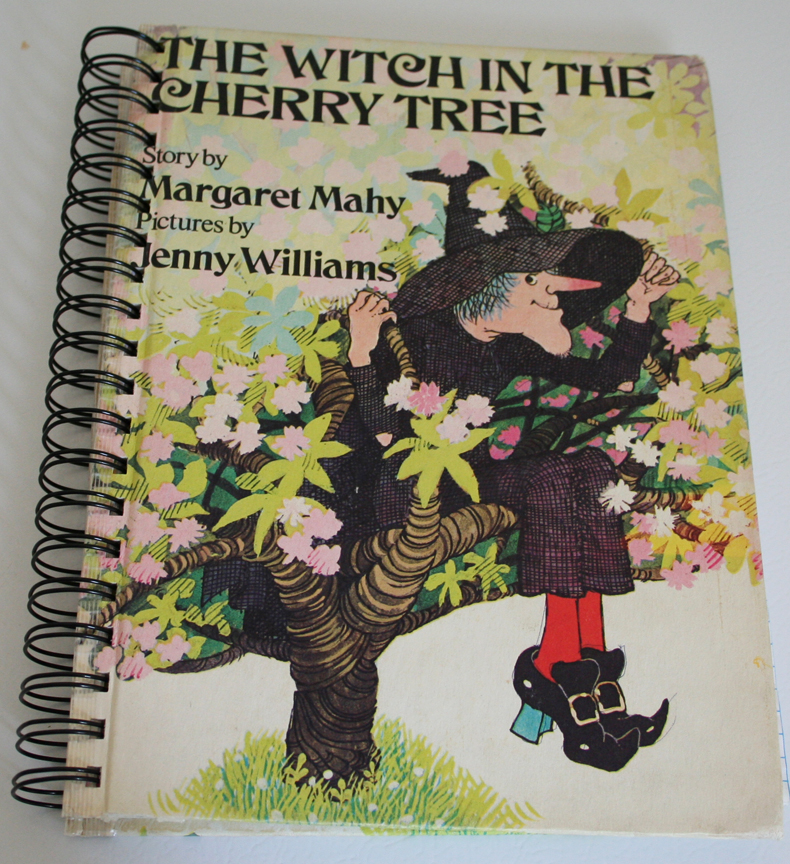 Witch in the cherry tree recycled journal 002