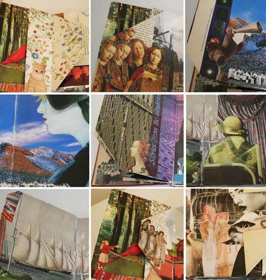Fantasy folded altered book mosaic