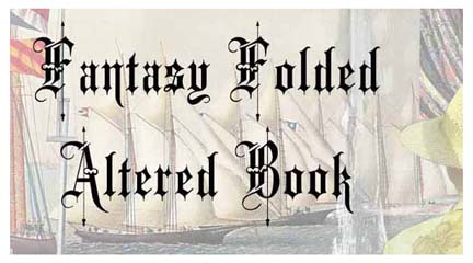 Fantasy folded book ad