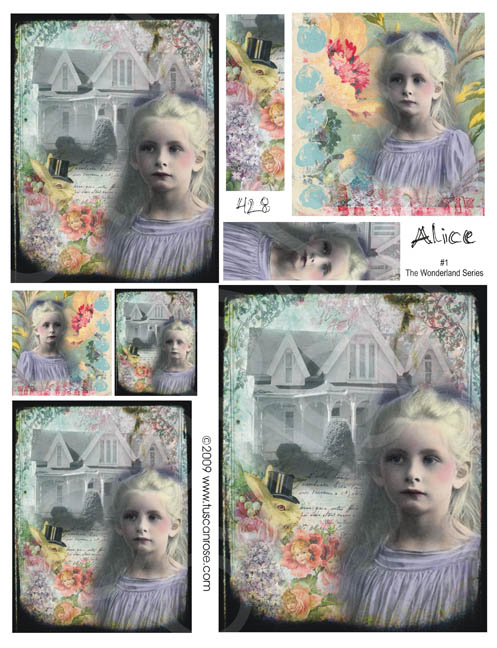 428_Alice_in_the_wonderland_series_collage_sheet