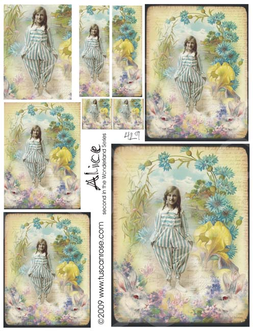429_alice_second_wonderland_series_collage_sheet