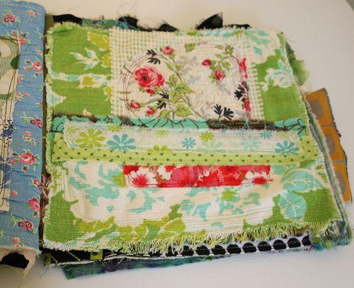 Fabric journal book 8-4-09