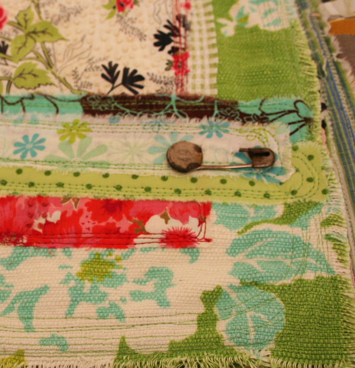 Quilted stitched fabric journal (4)