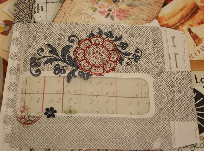 Security envelope in journal collage sheet