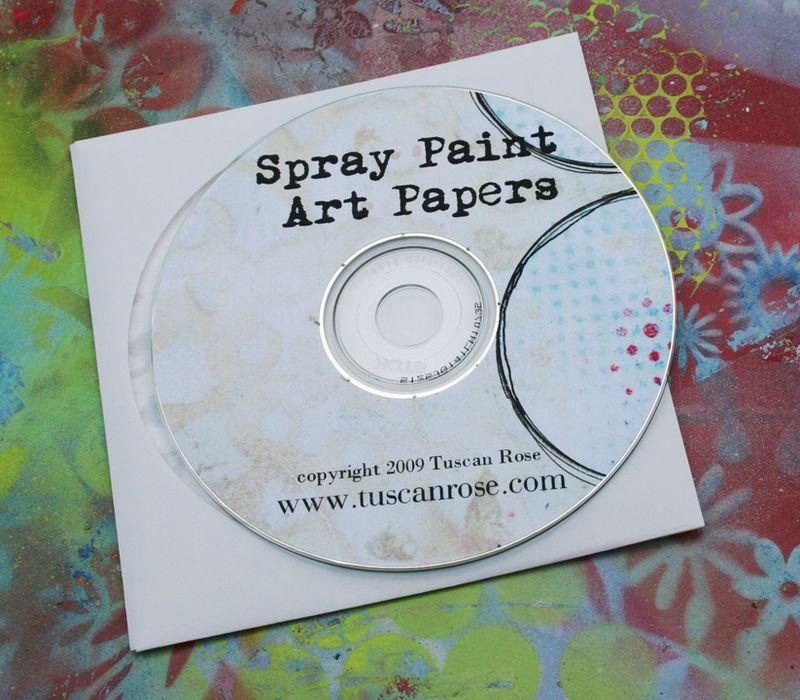Spray paint art paper image cd
