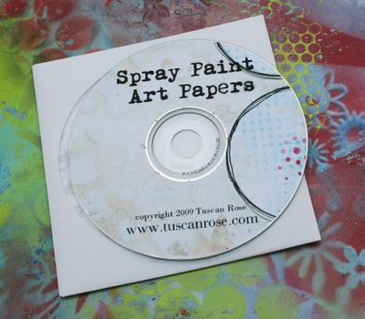 Spray paint art paper image cd