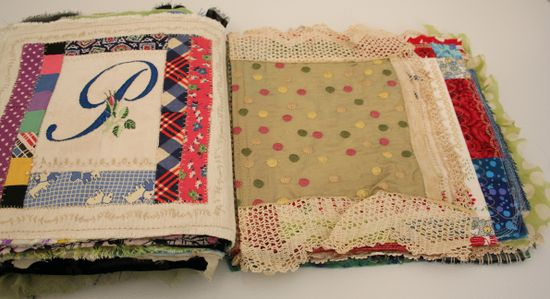 Quilted stitched fabric journal