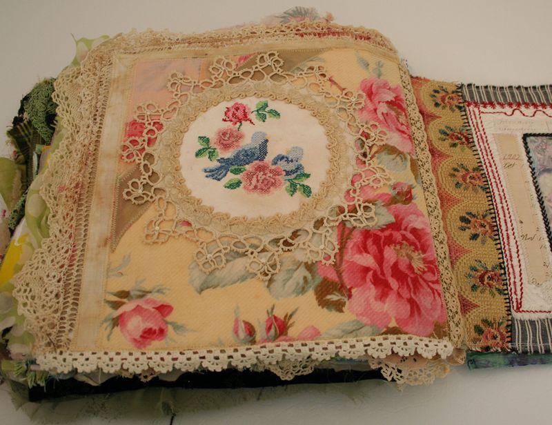 Quilted stitched fabric journal (3)