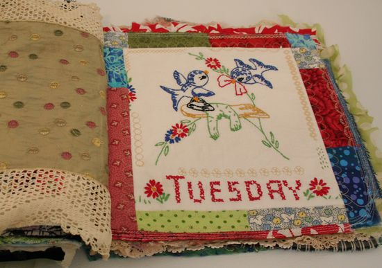 Quilted stitched fabric journal (1)