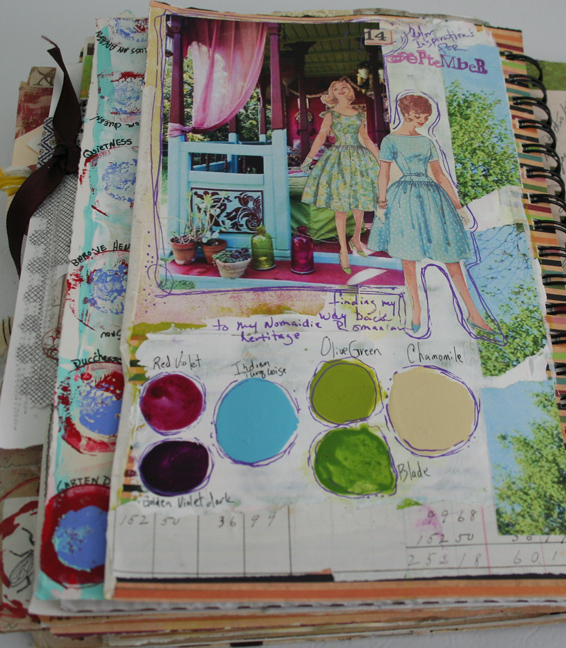 Color inspiration journal page