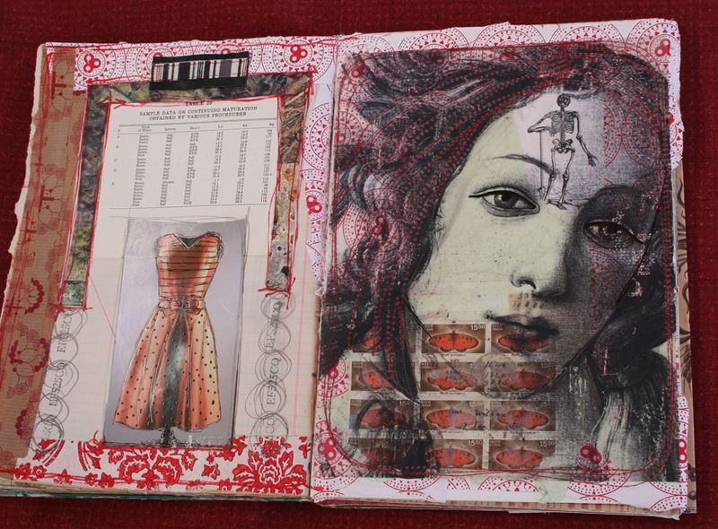 Visual journal pages and journal