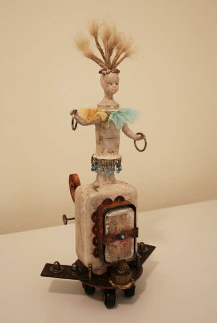 Vivienne Moreau and her High Flying Performing Book Assemblage