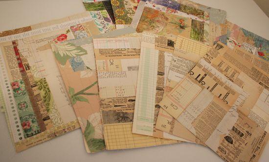 Paper crazy quilt squares 006