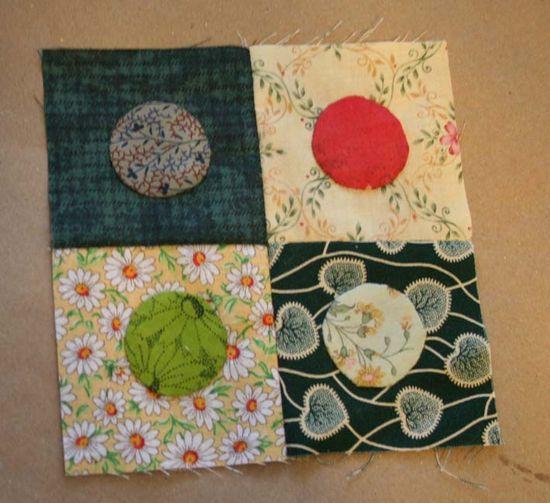 Circles scrap quilt