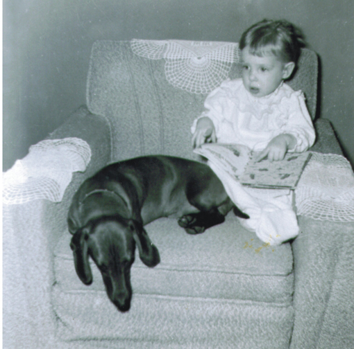 Patty and her wiener dog