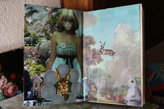 Altered book down the rabbit hole (3)
