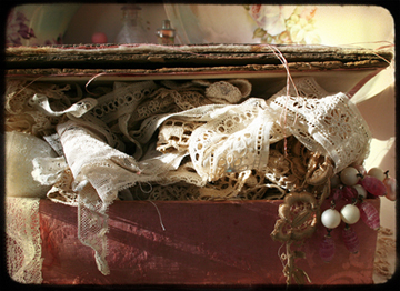 Pink box of old lace