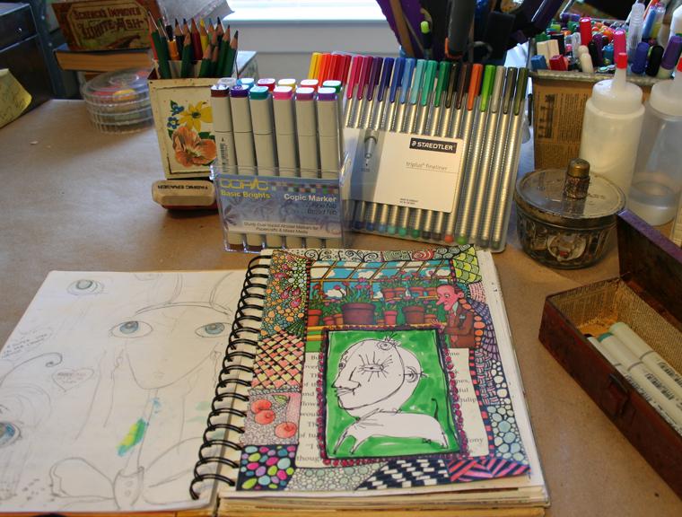 Secrets sketchbook idea journal 009
