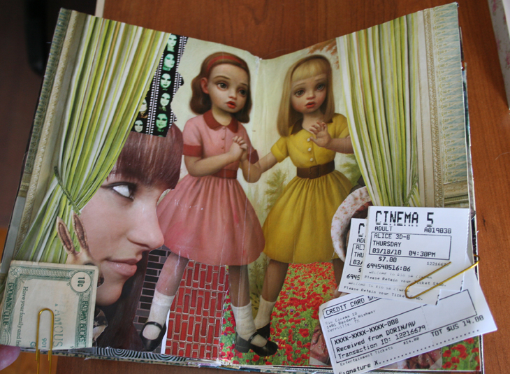 Modern alice with tickets