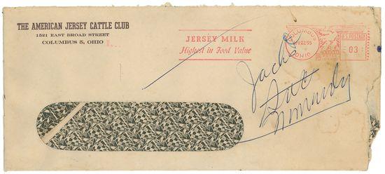 Vintage security envelope