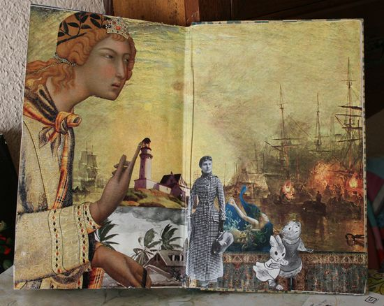 Altered book down the rabbit hole (4)