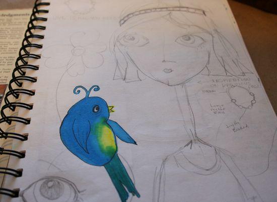 Secrets sketchbook idea journal 006