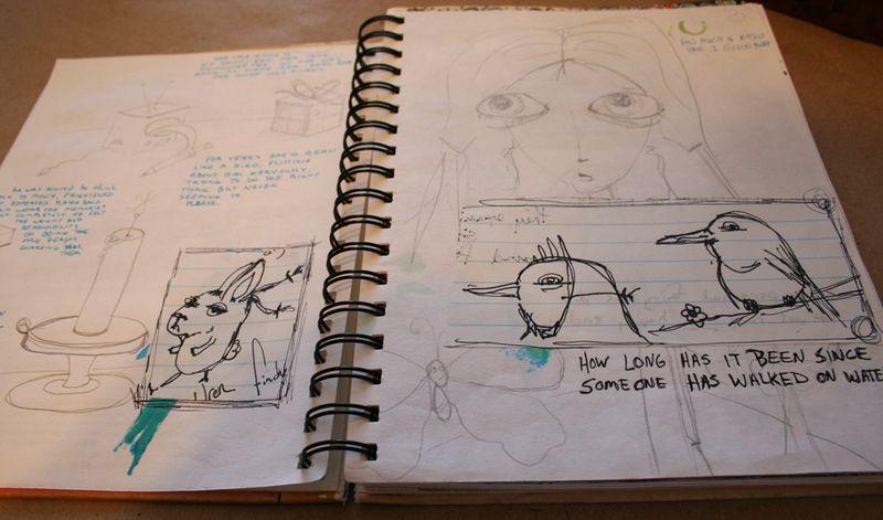 Secrets sketchbook idea journal 005