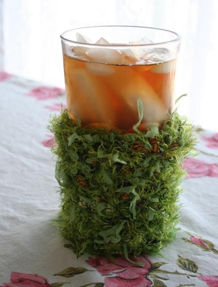 Crocheted ice tea cozy (2)