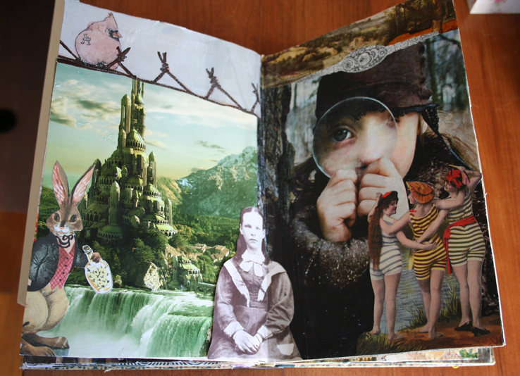 Modern alice altered book