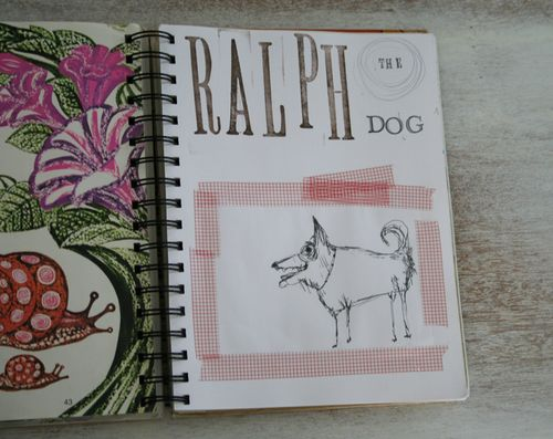 Ralph the dog journal page