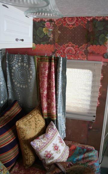 Gypsy wagon wall open window