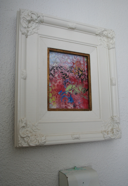 Frame with paper