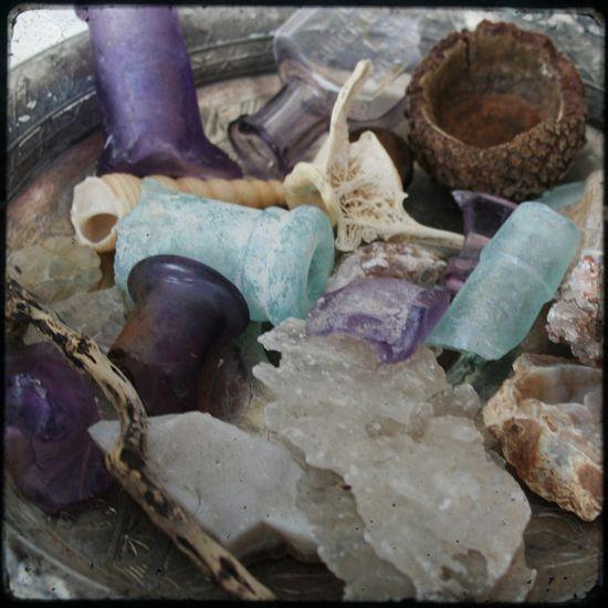 Bits of found glass