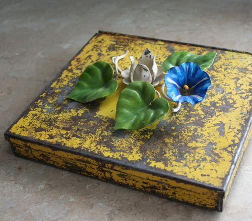 Yellow metal box a