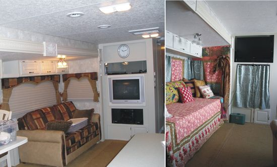 Before and during gypsy wagon