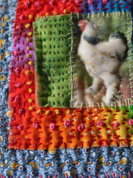 Chicken fabric journal