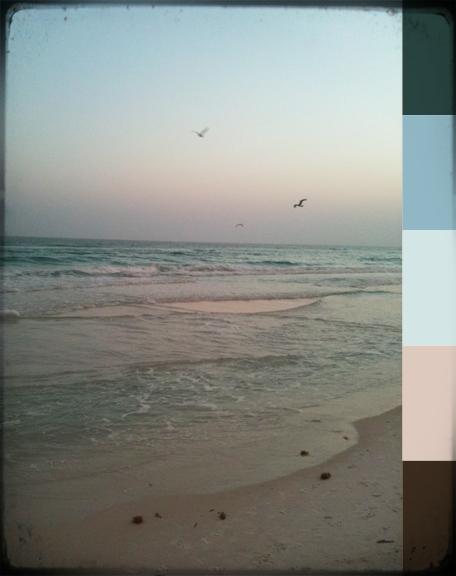 Color inspiration beach