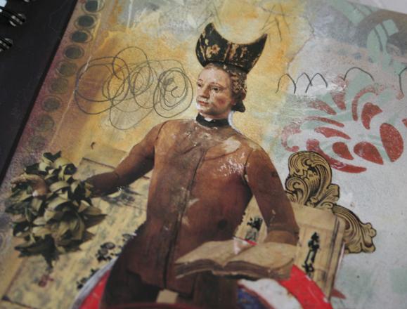 Spray paint journal detail