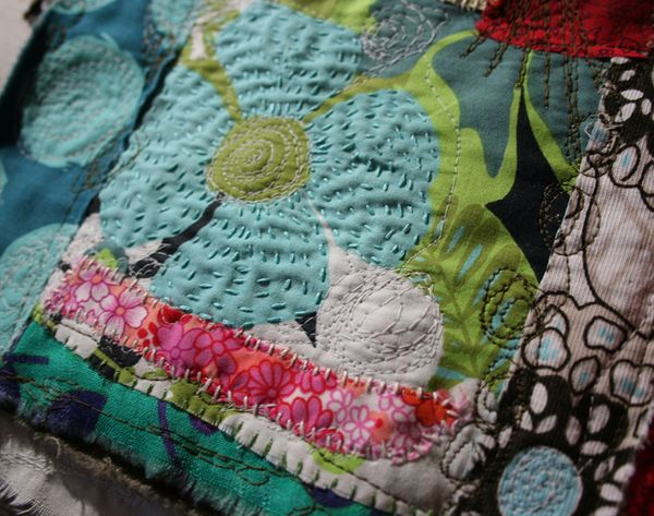 Fabric journal page detail