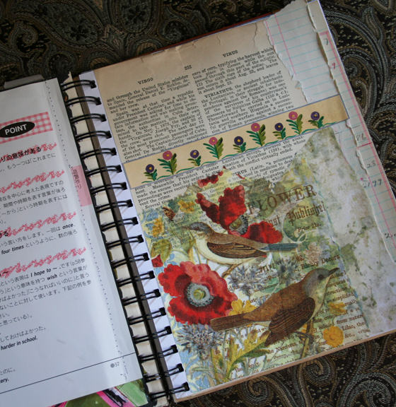 Poppies journal page