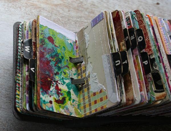 Vintage rolodex scrapodex collage journal (3)