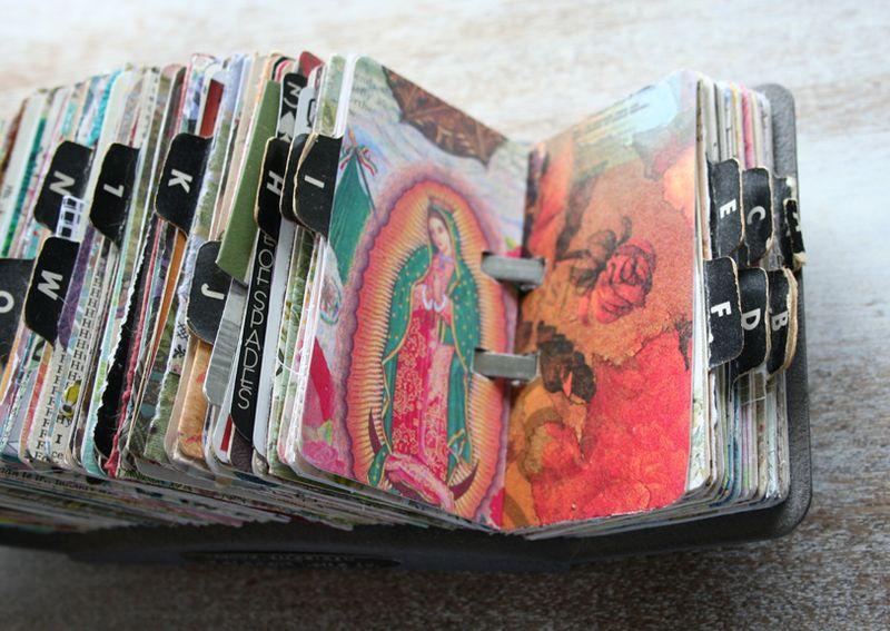 Vintage rolodex scrapodex collage journal (20)