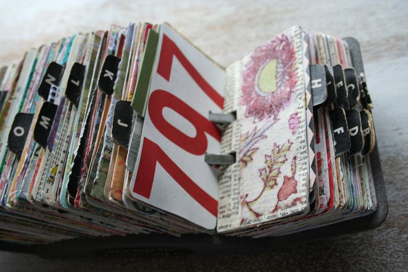 Vintage rolodex scrapodex collage journal (17)